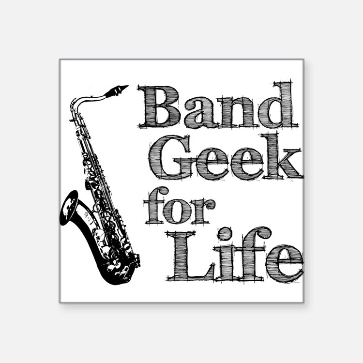 "Cute Band geek Square Sticker 3"" x 3"""