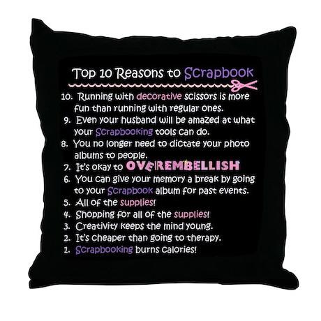 Top 10 {Scrapbook} Throw Pillow