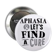 "Aphasia Lets Find A Cure 2.25"" Button"