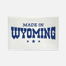 Made In Wyoming Rectangle Magnet