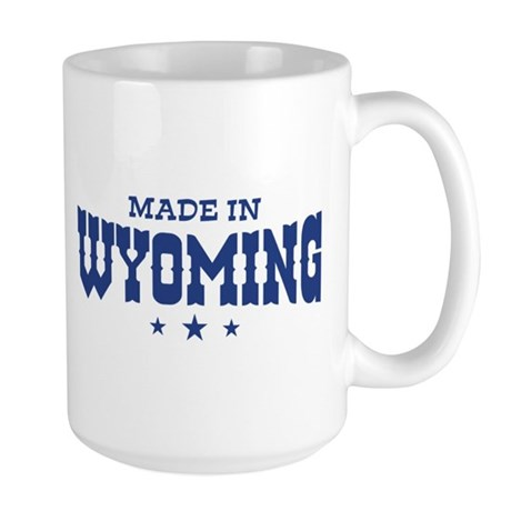 Made In Wyoming Large Mug