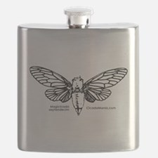 Cicada Illustration Flask