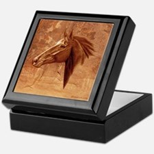 Horse Portrait, 'Sedona Stallion' Keepsake Box