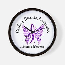 Crohn's Disease Butterfly 6.1 Wall Clock