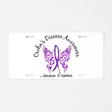 Crohn's Disease Butterfly 6 Aluminum License Plate