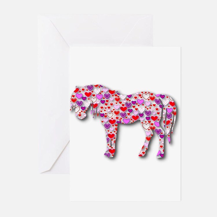 Cute Pink pony Greeting Cards (Pk of 20)