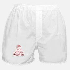 Keep calm we live in Crandon Wisconsi Boxer Shorts