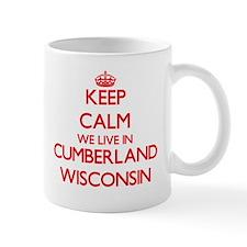 Keep calm we live in Cumberland Wisconsin Mugs
