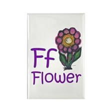 F is for Flower... Rectangle Magnet