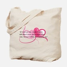 Jane Austen Emma Knightly Quote Hearts Tote Bag