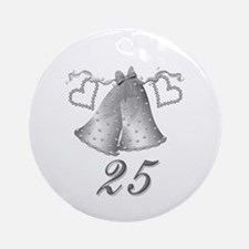 25th Silver Bells Anniversary Ornament (Round)