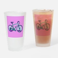 Bike Cycling Bicycle Pink Wondrous Drinking Glass