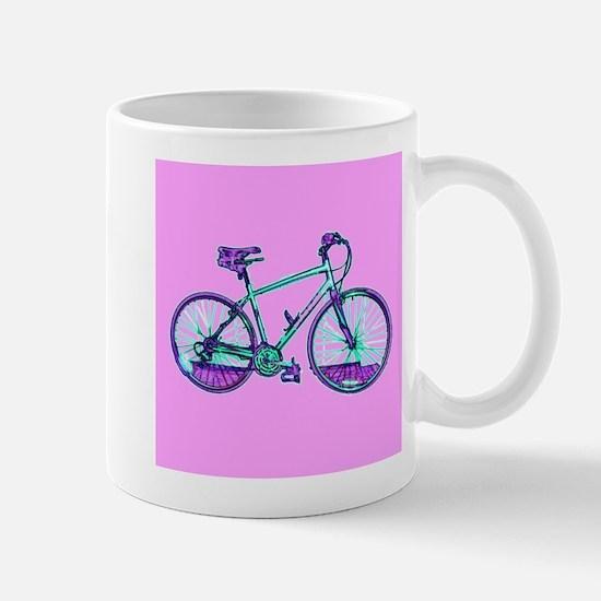 Bike Cycling Bicycle Pink Wondrous Velo Desig Mugs