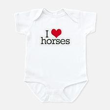 Love horses Infant Bodysuit