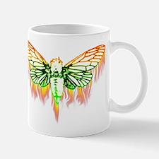 Flaming Cicada Mugs