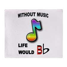 MUSIC NOTE Throw Blanket