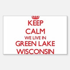 Keep calm we live in Green Lake Wisconsin Decal