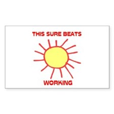 BEATS WORKING Rectangle Decal