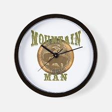 Mountain man gifts and t-shir Wall Clock