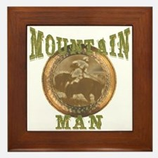 Mountain man gifts and t-shir Framed Tile