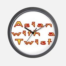 Asian Twist Wall Clock