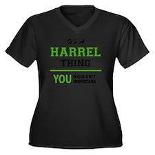 Cute You Women's Plus Size V-Neck Dark T-Shirt