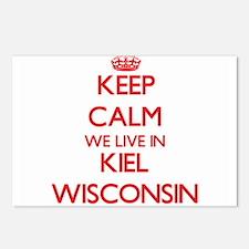Keep calm we live in Kiel Postcards (Package of 8)