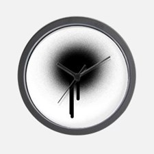 Spray Paint Wall Clock