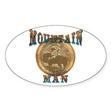 The Mountain Man or trappers, Oval Decal
