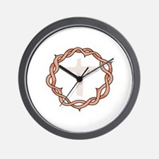 CROWN OF THORNS AND CROSS Wall Clock