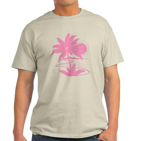 Pink Palm Beach Silhouette Light T-Shirt