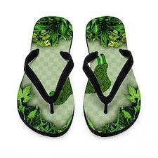 Green Sheep Flip Flops