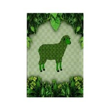 Green Sheep Rectangle Magnet