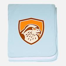 Peregrine Falcon Head Shield Retro baby blanket