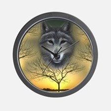 Wolf, 'Shaman's Dream' Wall Clock