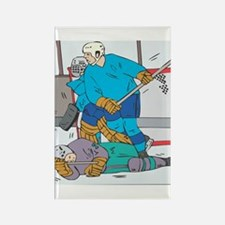 Hockey: Player Down Rectangle Magnet