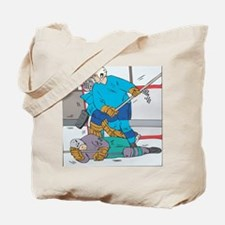 Hockey: Player Down Tote Bag