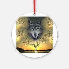 Wolf ~ 'Shaman's Dream' ~ Ornament (Round)