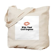 Kiss Your Civil Engineer Tote Bag