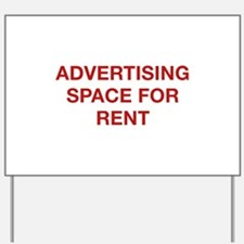 Advertising Space For Rent Yard Sign