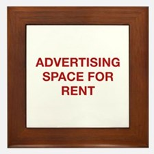 Advertising Space For Rent Framed Tile