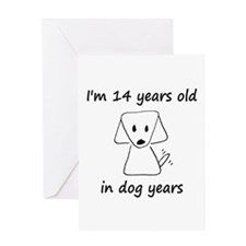 2 dog years 6 - 2 Greeting Cards