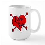 """""""Love Sucks"""" Large Mug"""