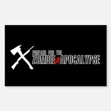 "Zombie ""X"" Rectangle Decal"