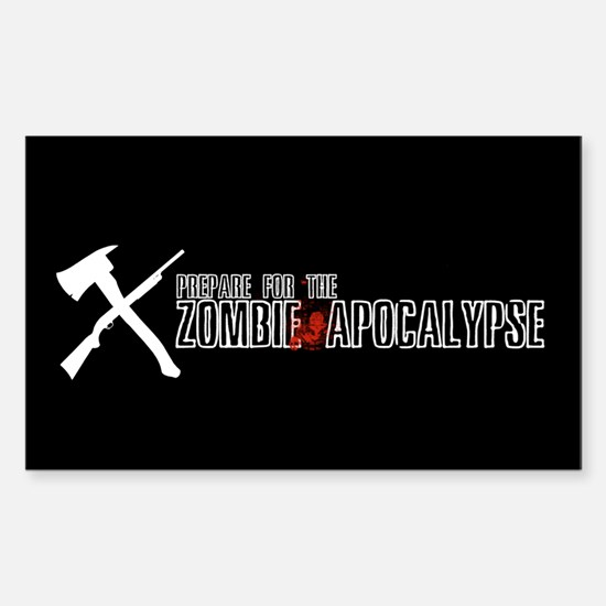 """Zombie """"X"""" Rectangle Decal"""