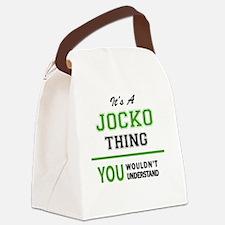 Cute Jocko Canvas Lunch Bag