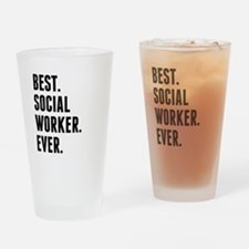 Best Social Worker Ever Drinking Glass