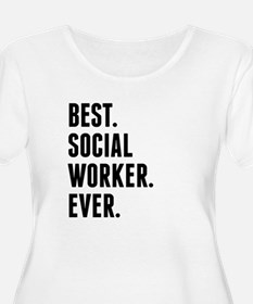 Best Social Worker Ever Plus Size T-Shirt