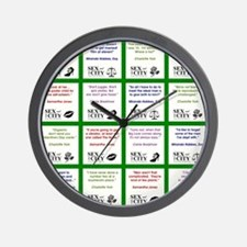 SATC COLLAGE (GREEN) Wall Clock