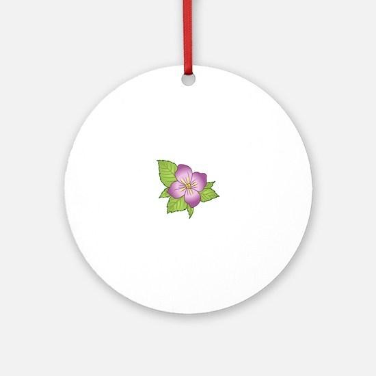 VIOLET FLOWER Ornament (Round)